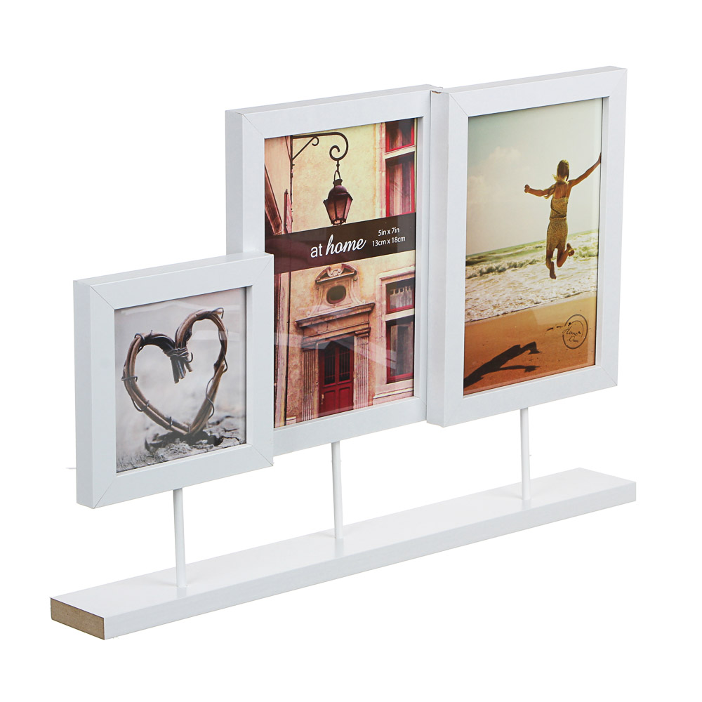 LADECOR Фоторамка на 3 фотографии, 27,5x41,2см, деревянная