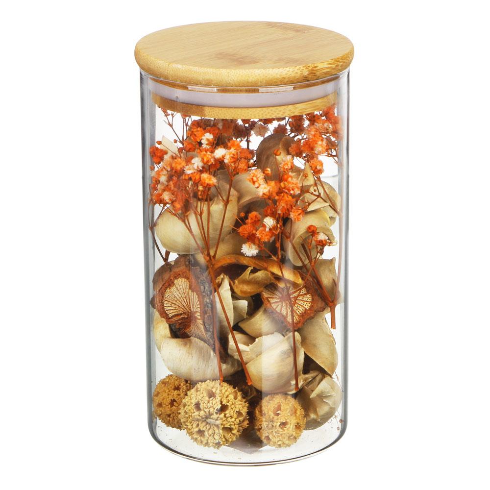 LADECOR Ароматизатор Попурри с декором в банке, 8х15см, 6 видов