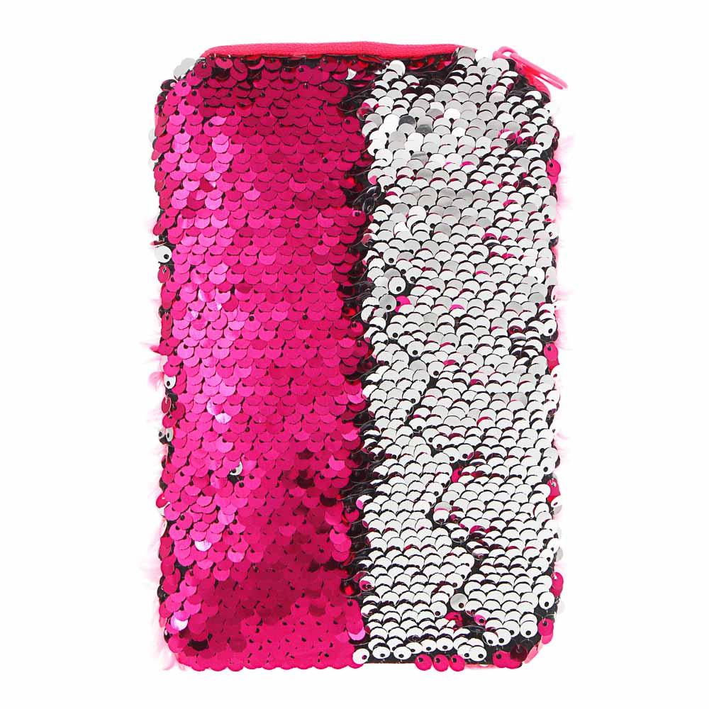ИГРОЛЕНД Сумка детская, разноцветные пайетки, пластик, полиэстер, 11,5х15см, 6 цветов