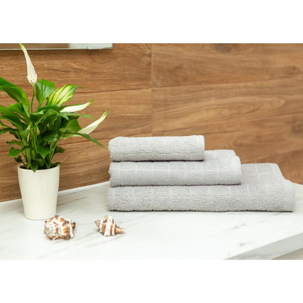 PROVANCE Линт Полотенце махровое, 100% хлопок, 70х130см, серый
