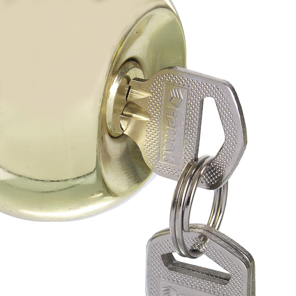 """ЕРМАК комплект дверных ручек-кноб """"ЗОЛОТО"""" с ключом"""