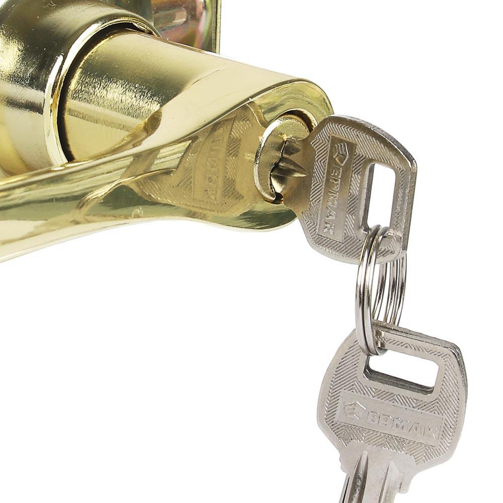"""Комплект дверных ручек """"ЗОЛОТО"""", с ключом"""