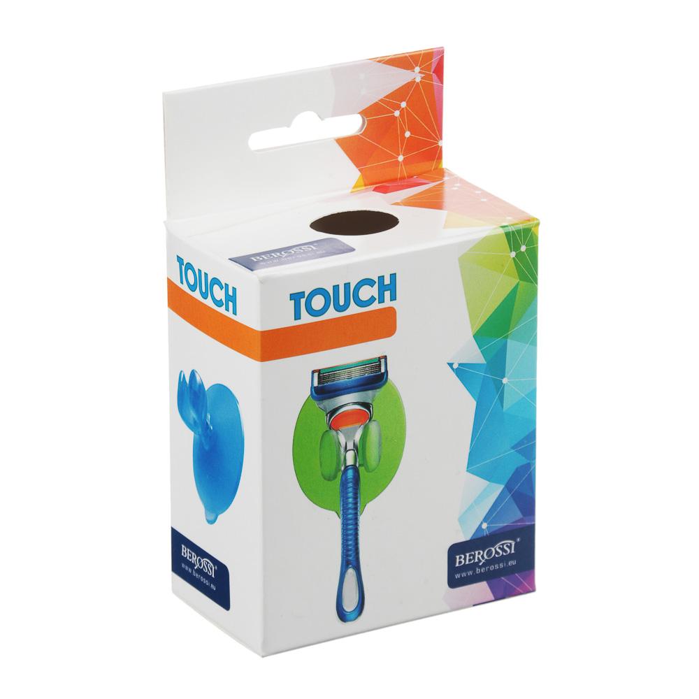 BEROSSI Держатель для бритвы Touch на присоске, ПВХ, 8,6х6,8х4,6см, 3 цвета