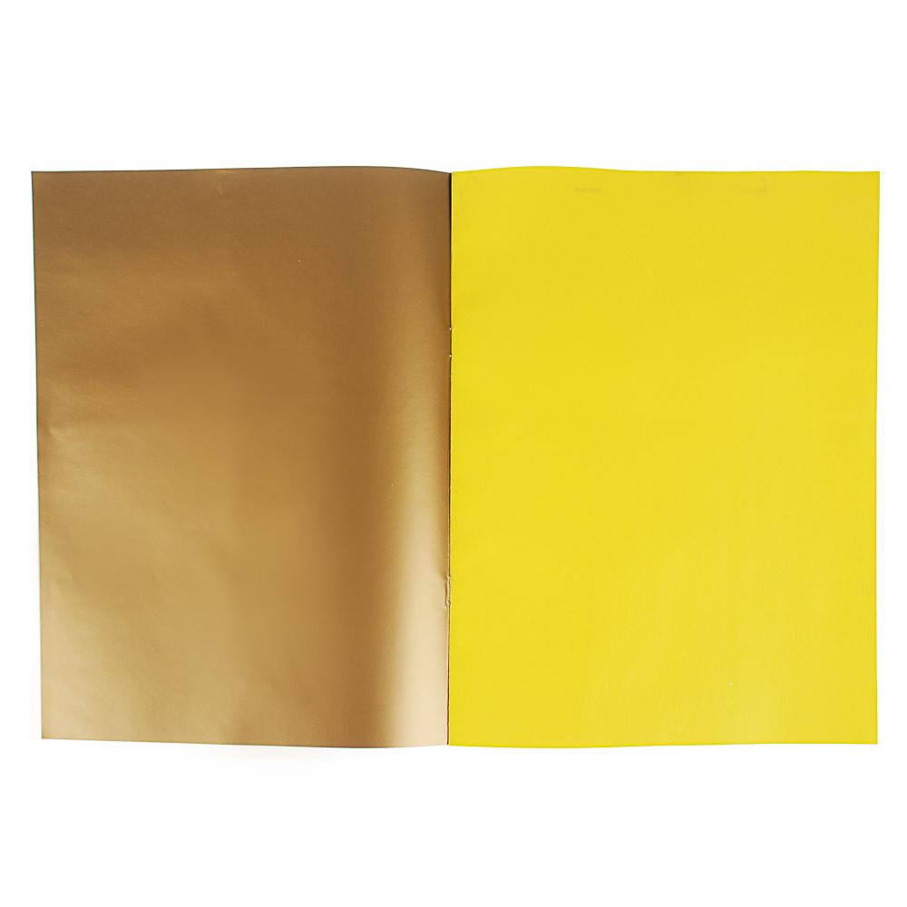 """ClipStudio Бумага цветная """"Альфа"""" мелов.офсет, 2-стор., 10л., 19х27,5см, 10цв.(вкл.золот. и серебр.)"""
