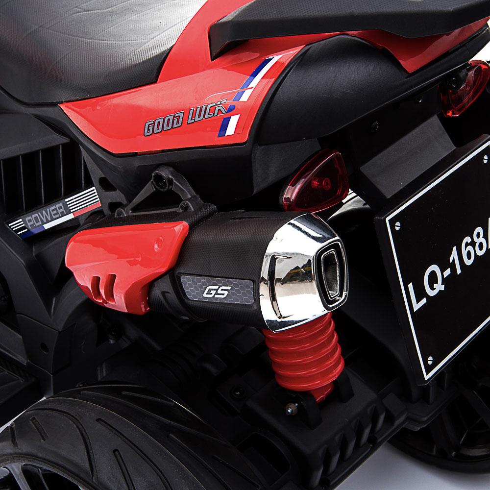"ИГРОЛЕНД Электромотоцикл ""Спортбайк"", свет, звук, 2х6V4.5AH, PP, 95x50x66см, ЭВА сидушка и колеса"