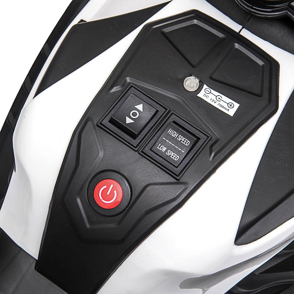 "ИГРОЛЕНД Электромотоцикл ""Супербайк"", свет, звук, 2х6V4.5AH, PP, 95x47x63см"