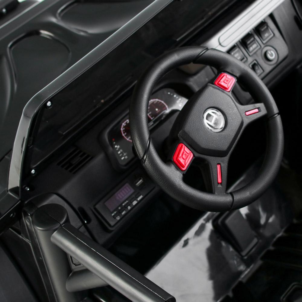 ИГРОЛЕНД Электромобиль джип полный привод, свет, звук, 12V7AH, PP, 140х70х86см