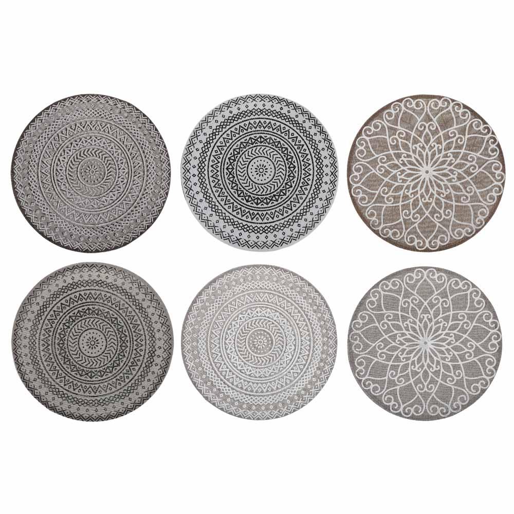 VETTA Салфетка декоративная круглая, полиэстер, d38см, 6 дизайнов
