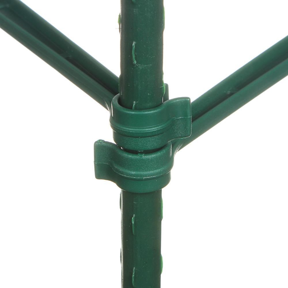 INBLOOM Опоры для растений 90см, 6 опоры d11мм*45см, 9 поперечен 30см, 3 коннектора, металл+РЕ