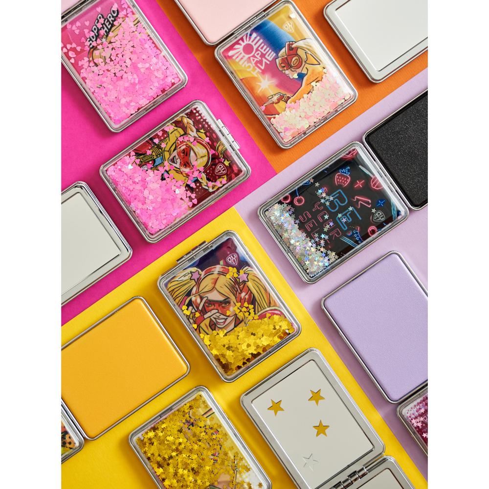 Зеркало карманное ЮниLook, 8х5,8 см, 12 дизайнов