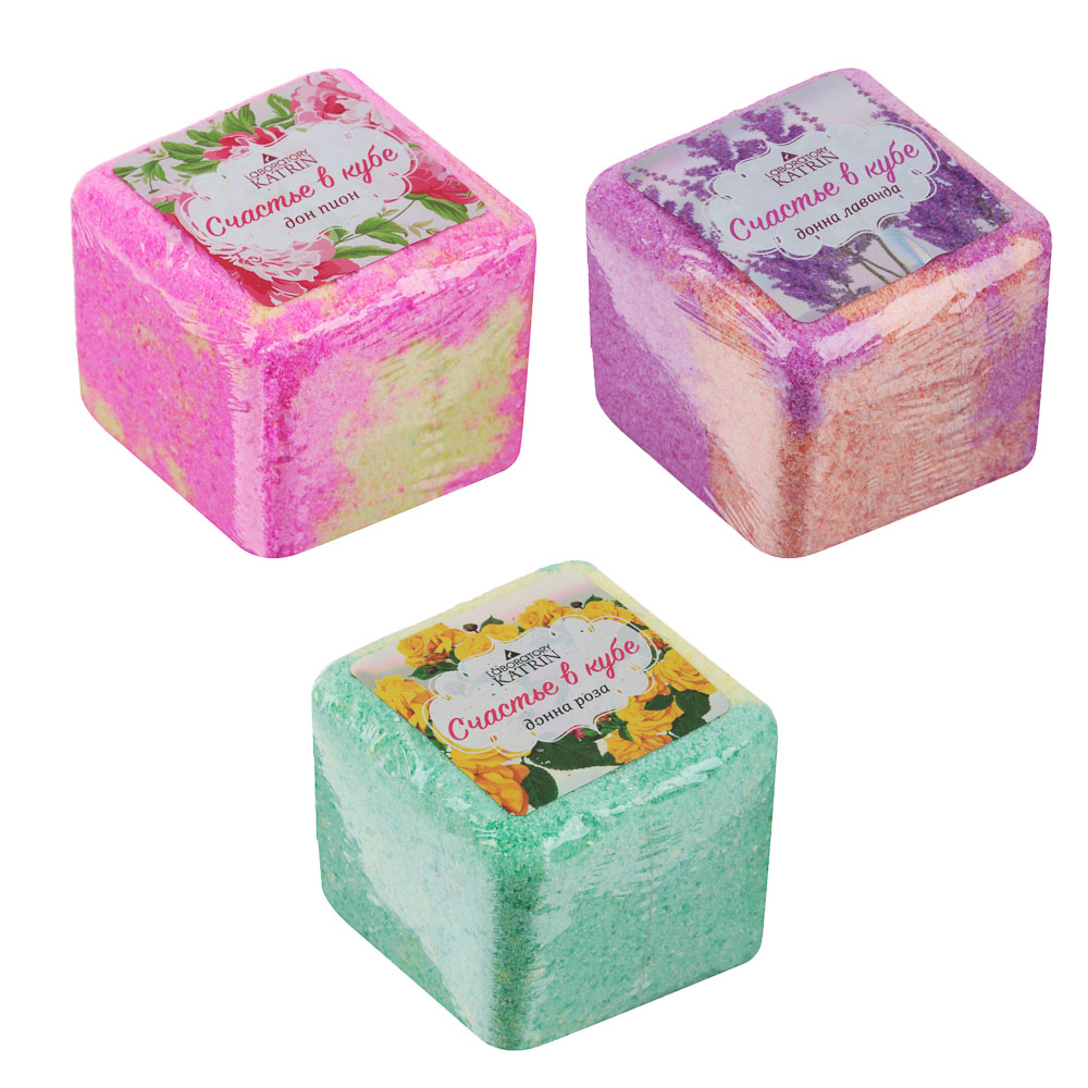 """Средство шипучее для ванн """"Счастье в кубе"""", 130г"""