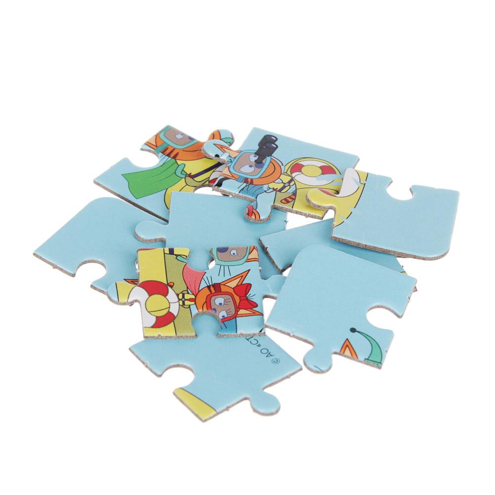 ТРИ КОТА Фигурка с пазлом 9 дет., 4-6,5см, картон, пластик, 12 дизайнов