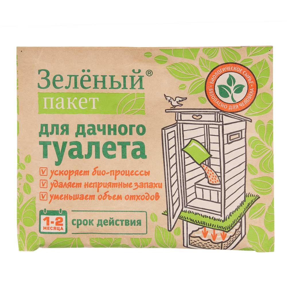 Пакет зеленый 2 вида (для септика 40г / для дачного туалета 30г )