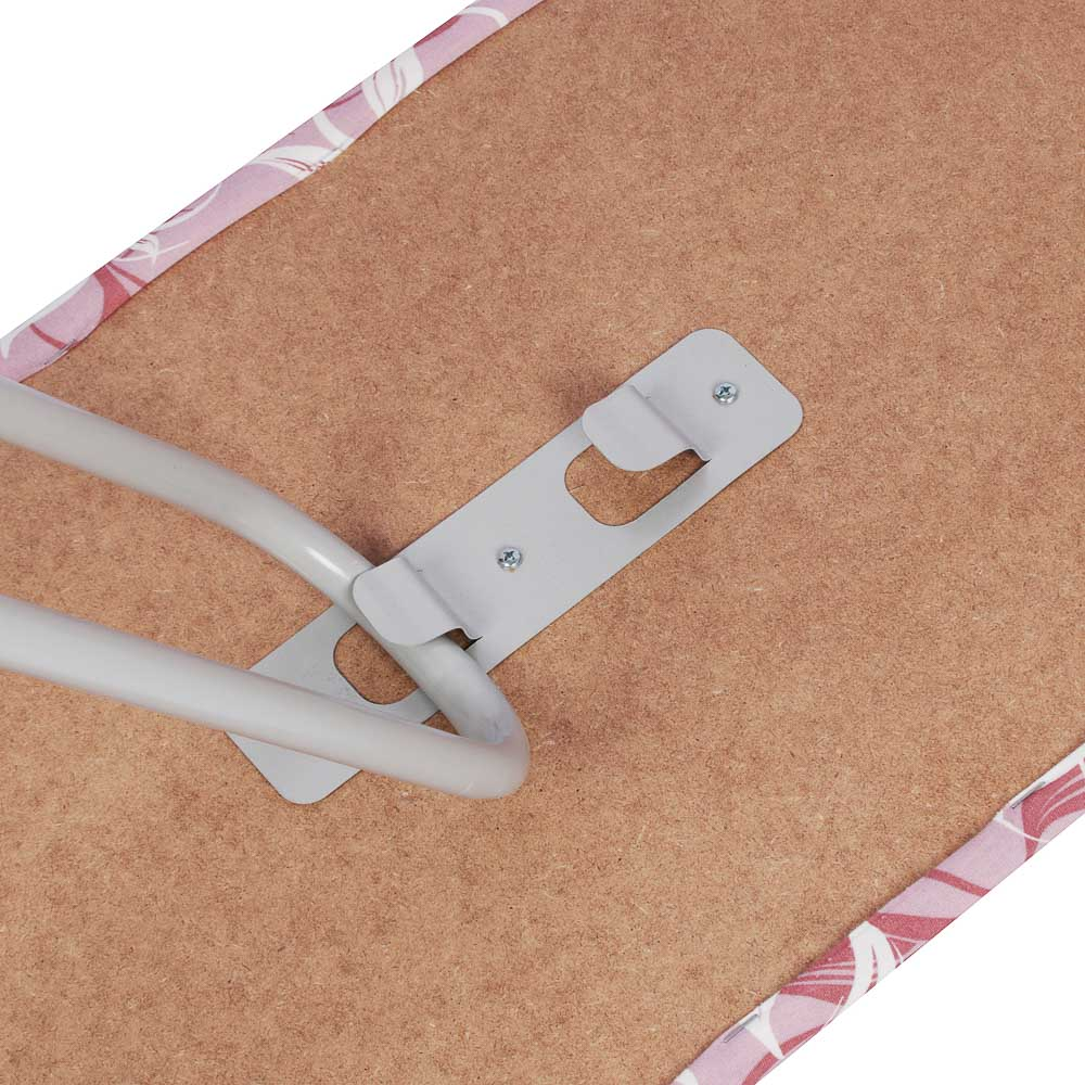 Доска гладильная ГЛ5, 124х35,5см, с полкой для утюга и белья