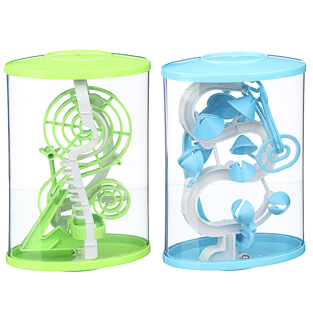 ИГРОЛЕНД Головоломка 3D лабиринт, пластик, 13х21см, 2 дизайна