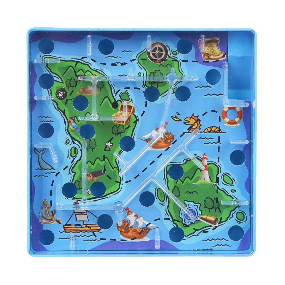 ИГРОЛЕНД Игры в дорогу мини лабиринт, пластик, 10х10х2,1см, 3 дизайна