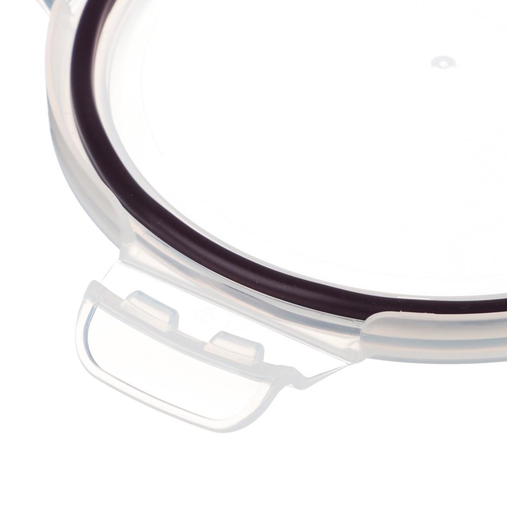 VETTA Контейнер для продуктов на защелках 600мл круглый, жаропрочное стекло