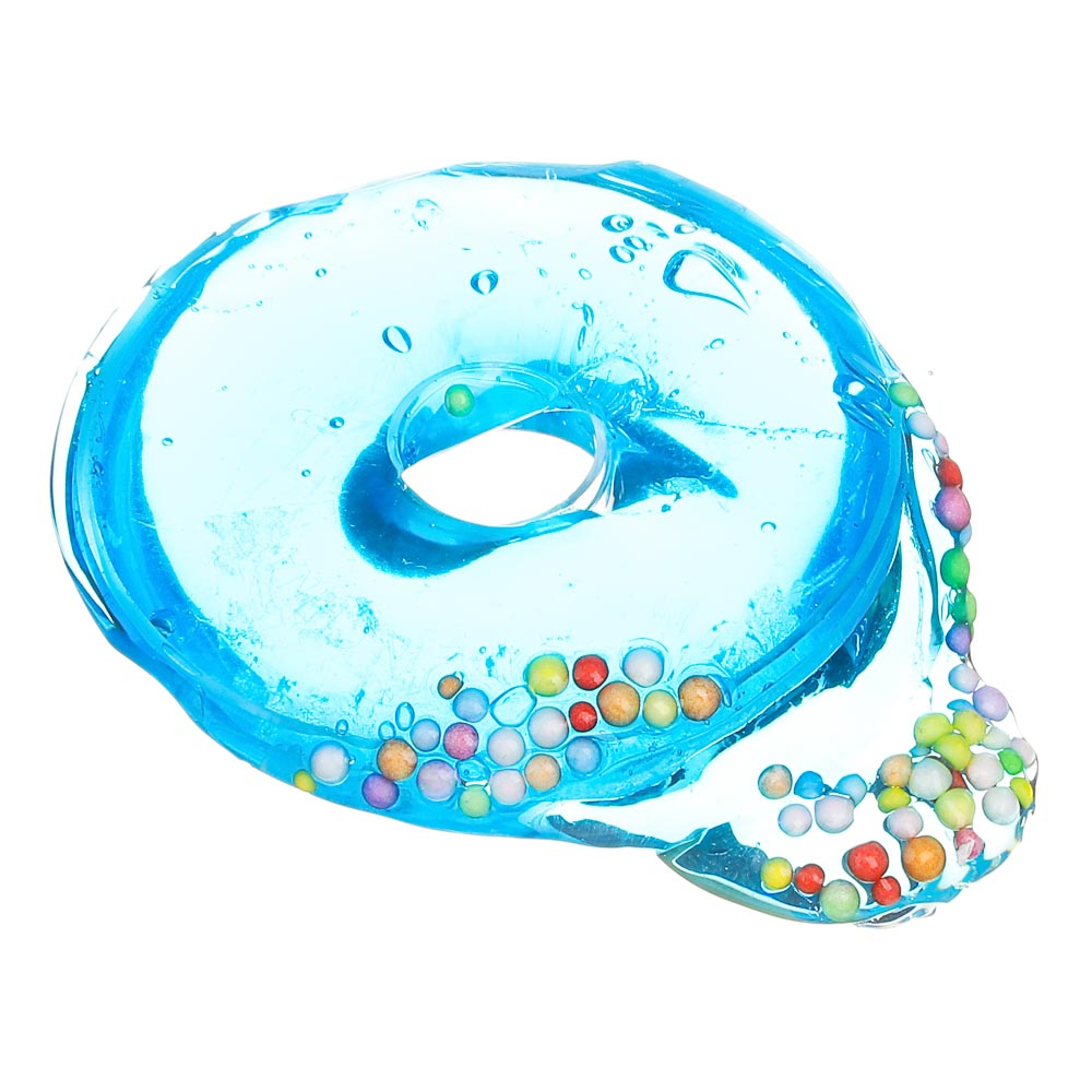 LASTIKS Слайм в виде пончика, полимер, 7,5см, 6-8 цветов