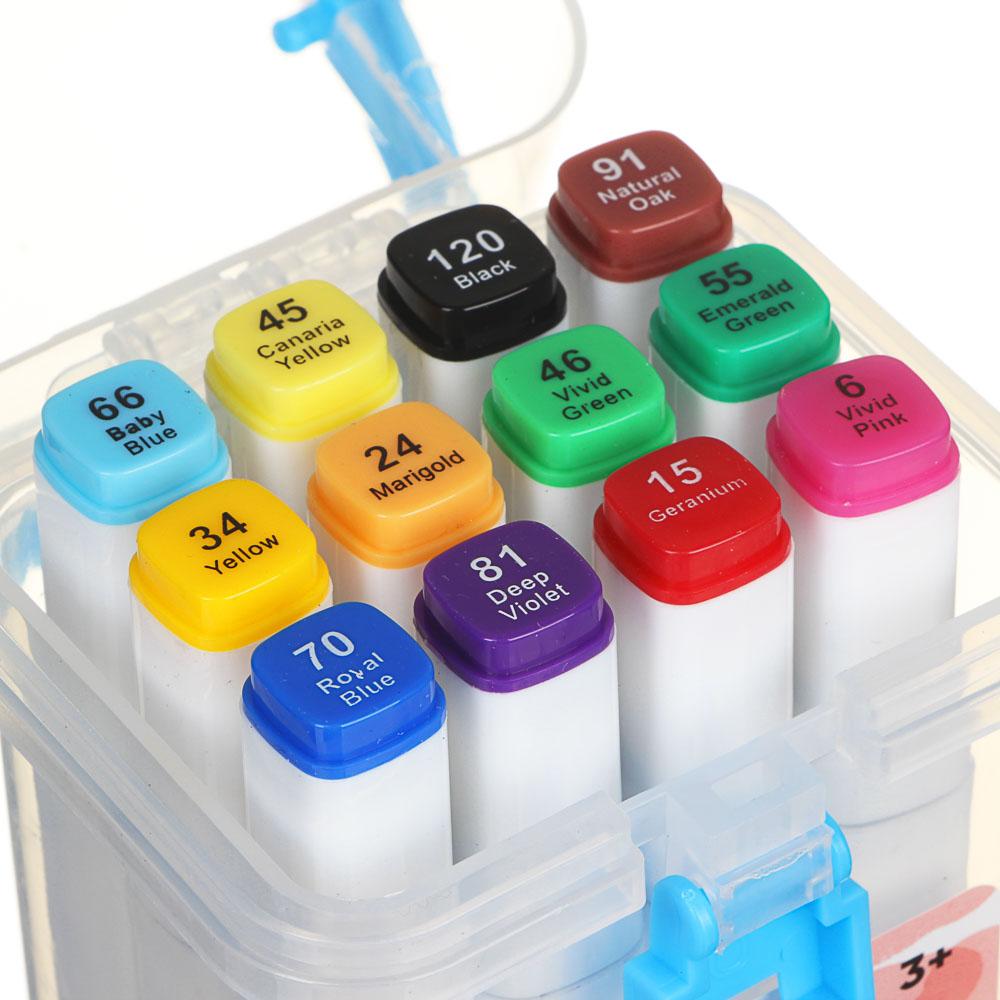 ХОББИХИТ Набор маркеров для скетчинга, пластик, 8,2х17х6,5см, 12 цветов