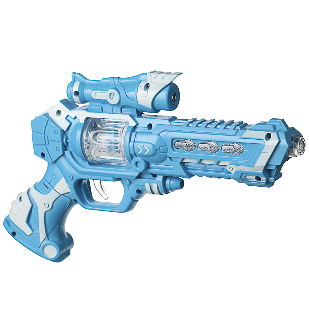 ИГРОЛЕНД Пистолет-проектор, свет, звук, 3хАА, ABS, 18х27х5см, 2 дизайна