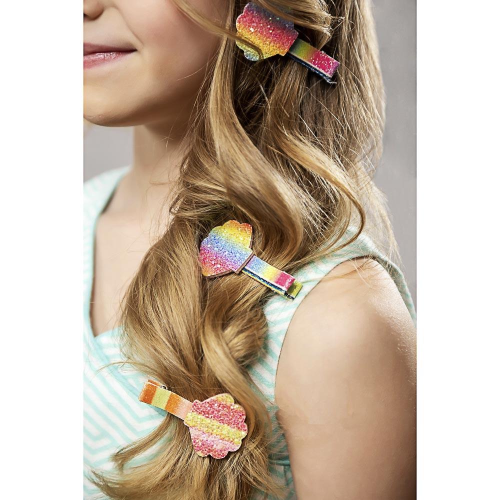 BERIOTTI Зажим для волос 4шт, полиэстер, сплав, 5см, 4-6 дизайнов