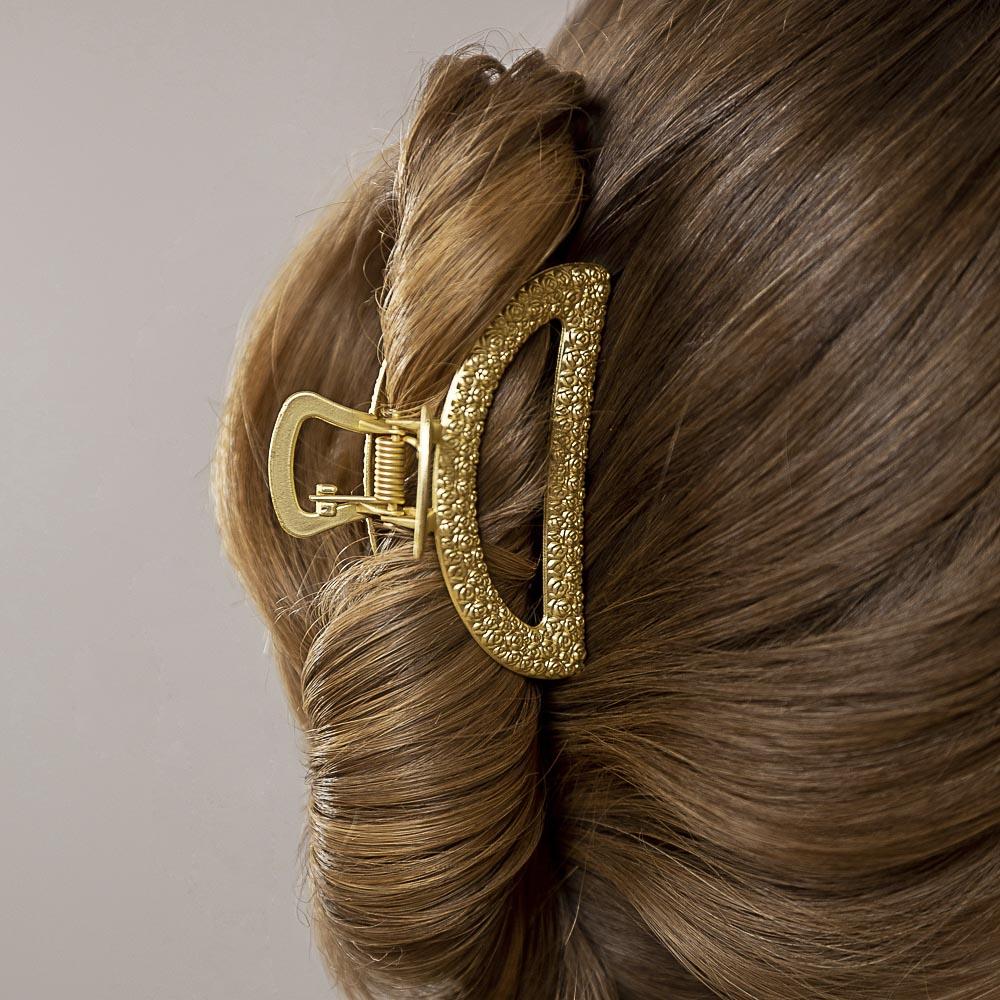 BERIOTTI Краб для волос, биж.сплав, 6,8-7,8см, 6 дизайнов