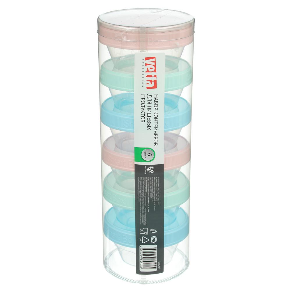 VETTA Набор контейнеров пищевых Smart Box,60мл, 6шт, пластик