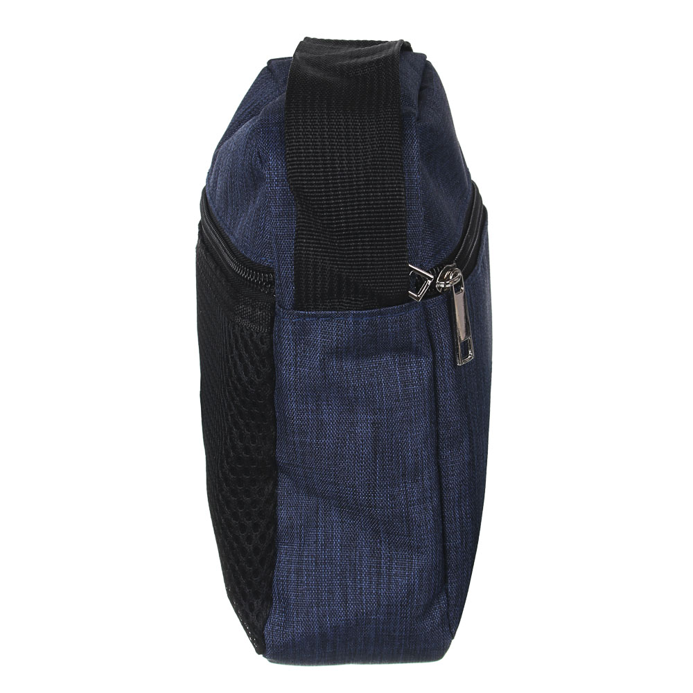 ЮL Сумка мужская на длинном ремне, полиэстер, 20х15х7см, 3 цвета, 21-03