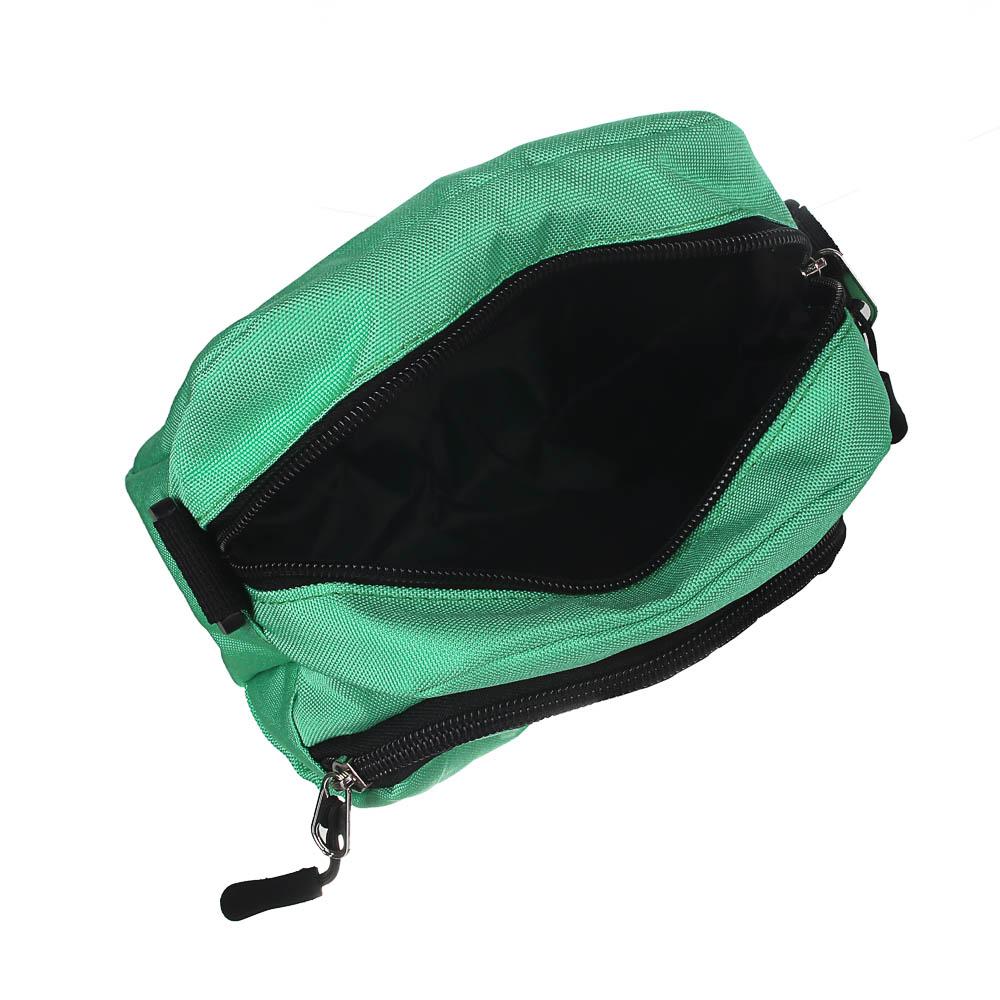 ЮL Сумка на длинном ремне, полиэстер оксфорд, 17х15х6см, 4 цвета, 21-06