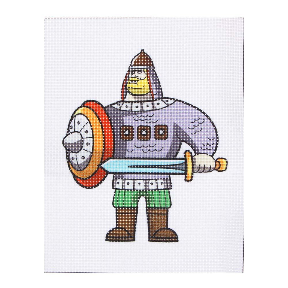 BY Набор для вышивания крестиком (канва 12x15см, нитки, игла), 6 дизайнов