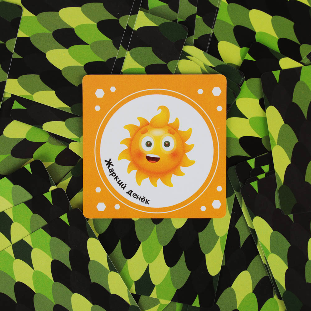 """ИГРОЛЕНД Игра настольная карточная """"Мемори"""" 50 карт, картон, 10х10х2см, 2 дизайна"""