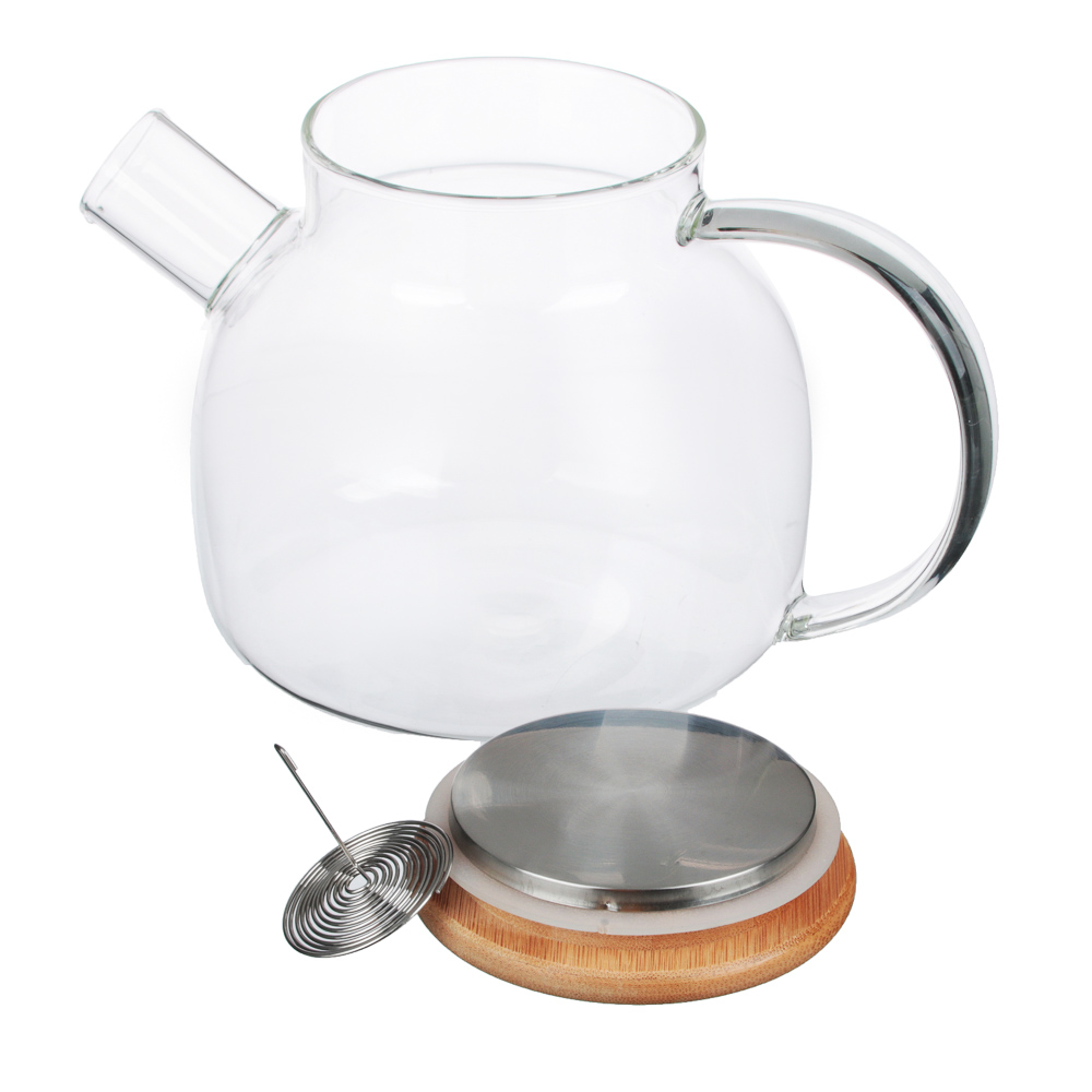 VETTA Чайник заварочный 1000мл, с металлическим фильтром, стекло