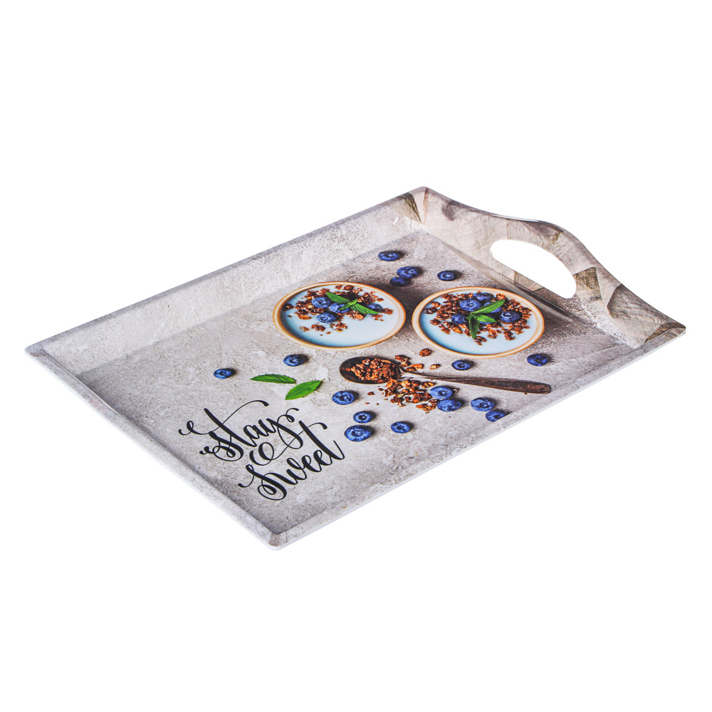 VETTA Завтрак Поднос, пластик, 39х27х4,3см, 2 дизайна
