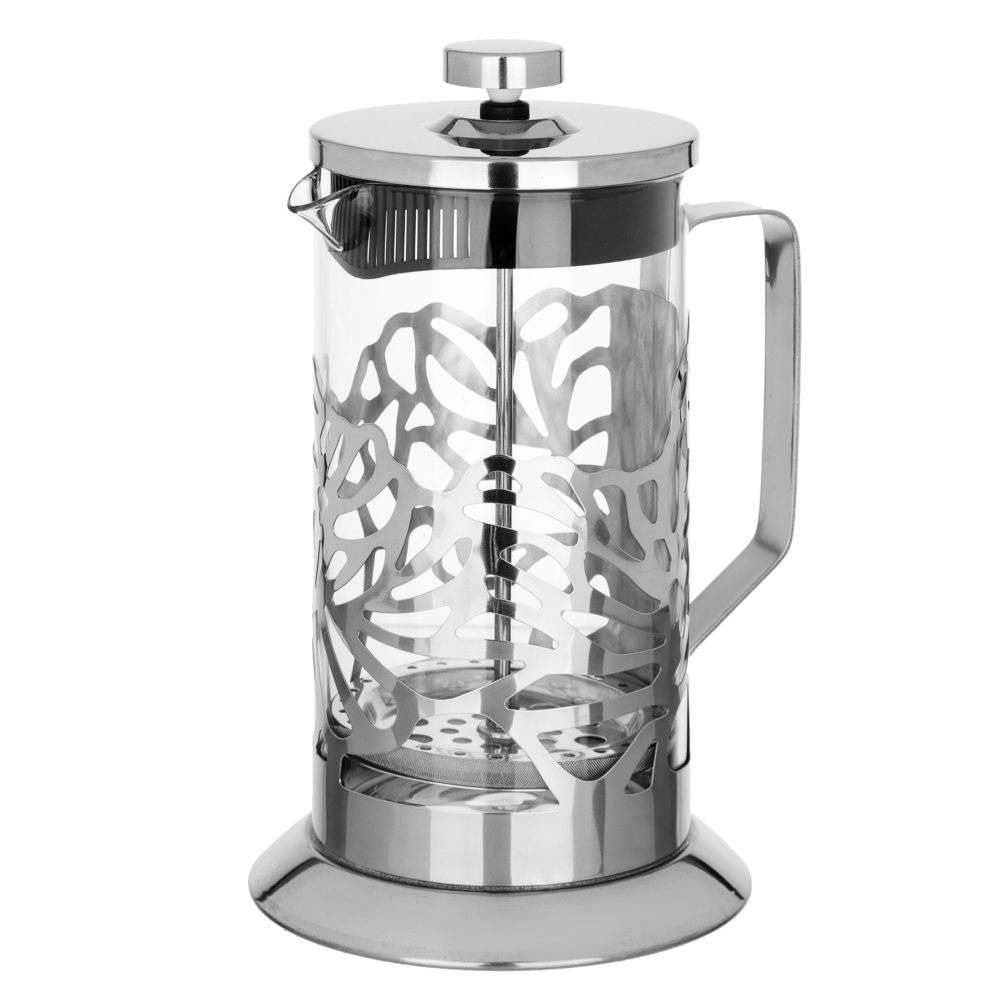 SATOSHI Гельсингфорс Френч-пресс 1000мл, жаропрочное стекло, 4 дизайна