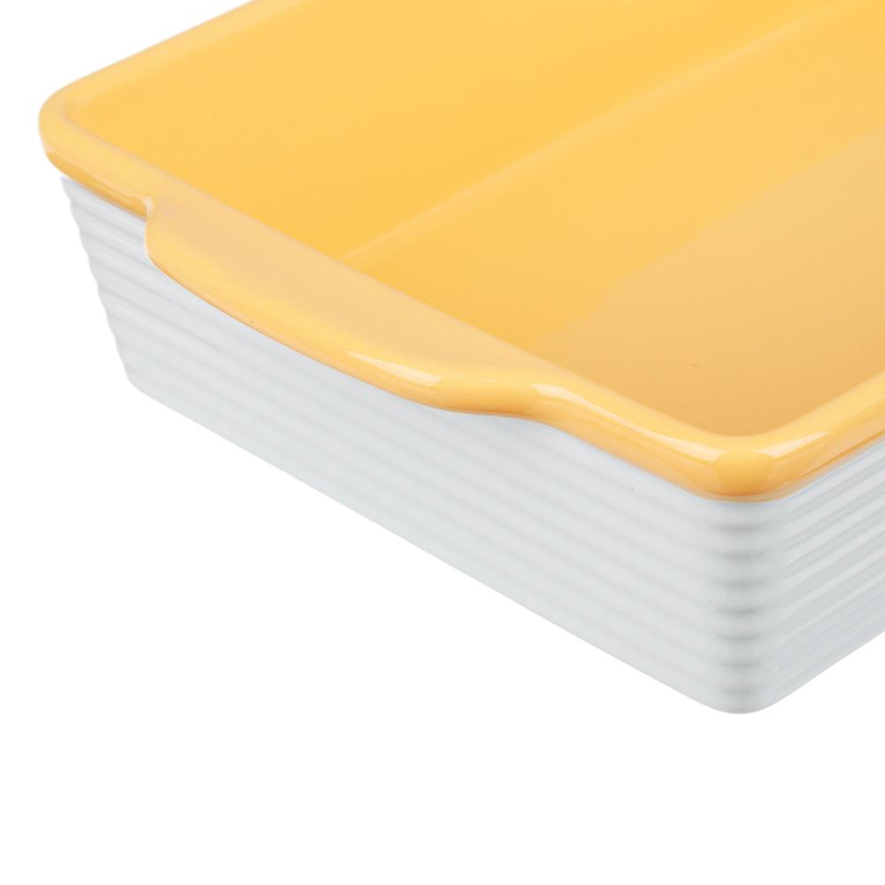 MILLIMI Форма для запекания и сервировки прямоугольная с ручками, керамика, 27,5х17х6см, 2 цвета