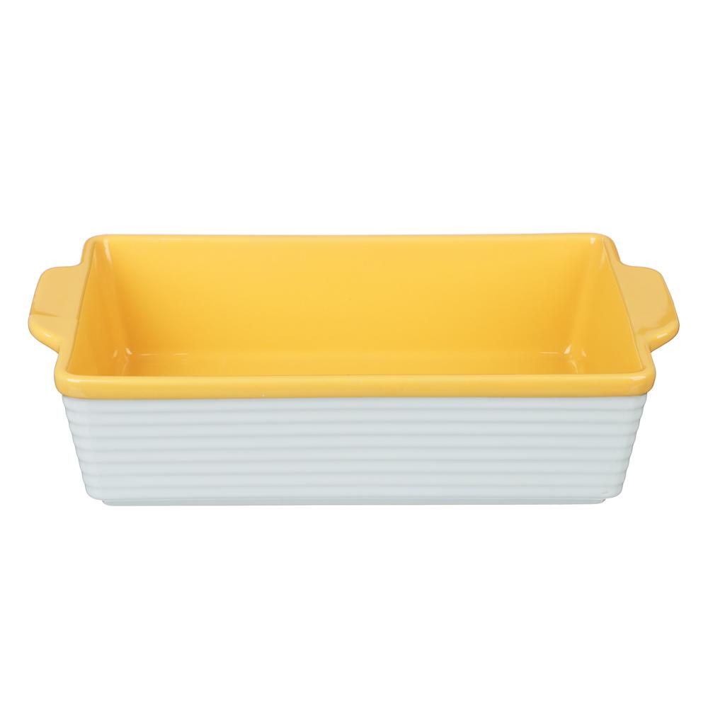 MILLIMI Форма для запекания и сервировки прямоугольная с ручками, керамика, 31х19,5х7,5см, 2 цвета