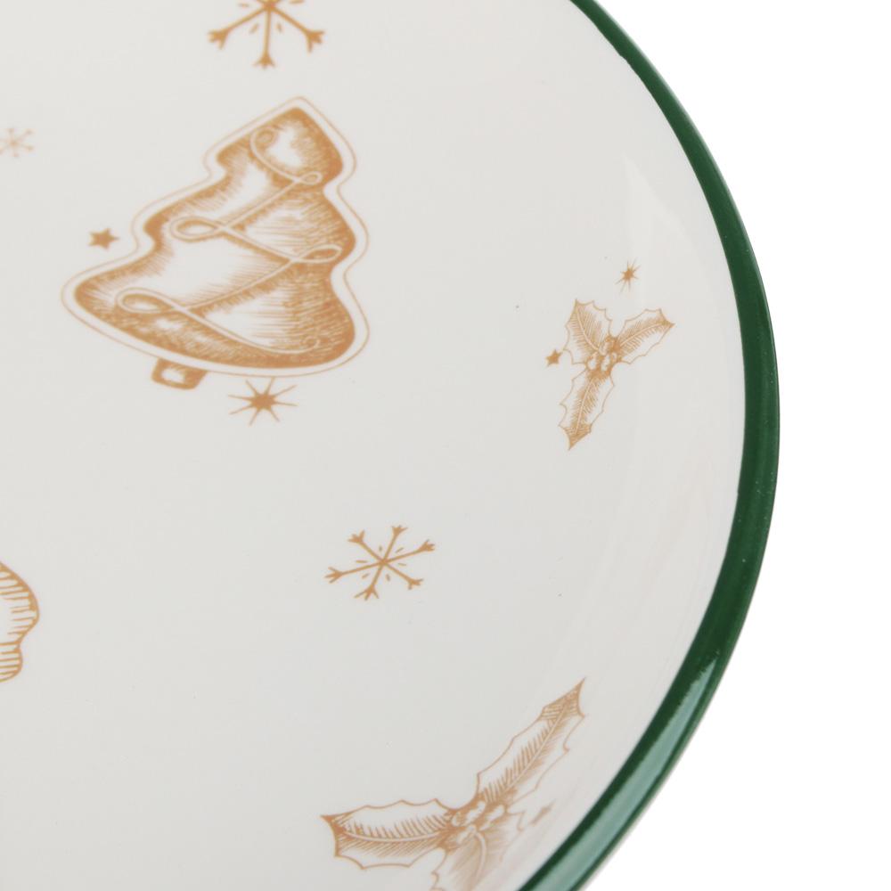 MILLIMI Пряничный домик Блюдо круглое 22х3см, керамика