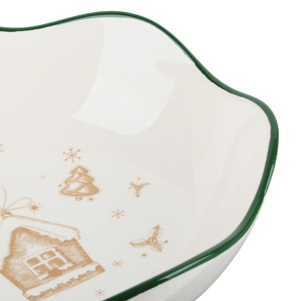 MILLIMI Пряничный домик Салатник 21,5х7,5см, керамика