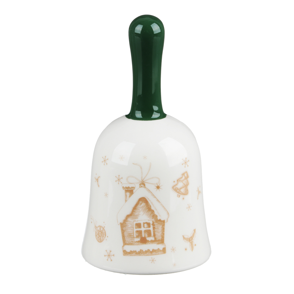MILLIMI Пряничный домик Колокольчик декоративный 7х7х13см, керамика