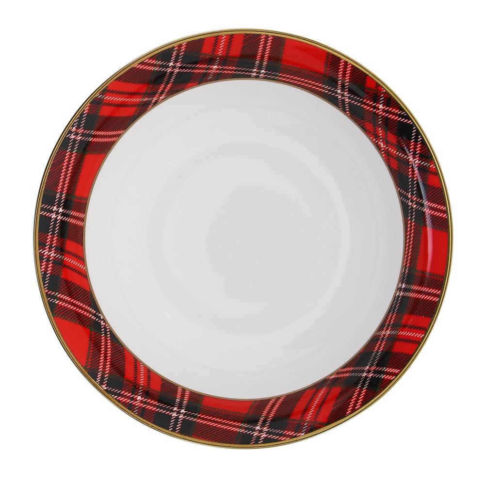 MILLIMI Шотландка Набор салатников 17,5см, 2шт, костяной фарфор