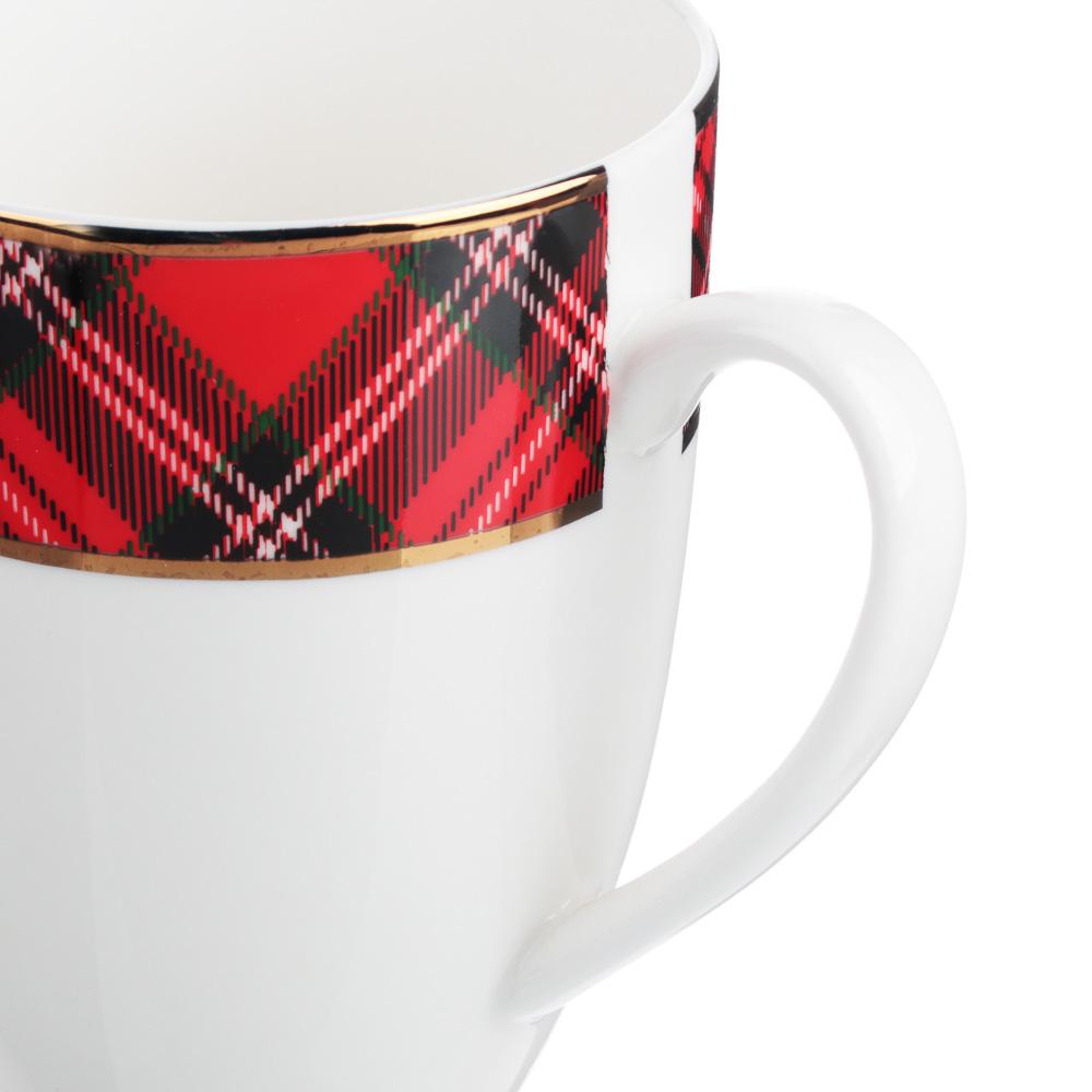 MILLIMI Шотландка Кружка 400мл, костяной фарфор