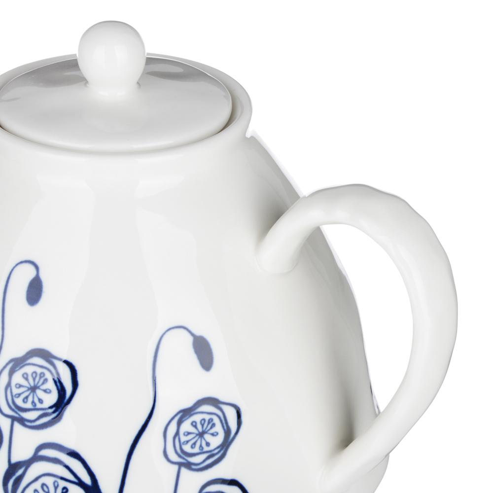 MILLIMI Индиго Чайник заварочный, 1100мл, 19,5х16х13,5см, керамика