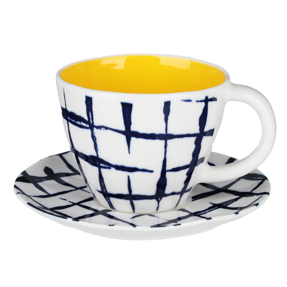 MILLIMI Индиго Набор чайный 2пр, чашка 270мл, блюдце 15см, керамика