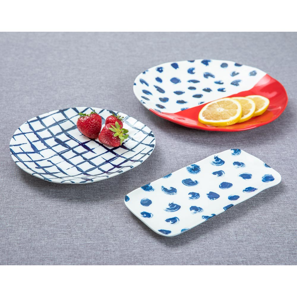 MILLIMI Индиго Блюдо прямоугольное, 22х10х1,5см, керамика