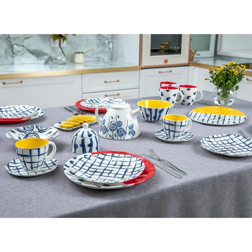 MILLIMI Индиго Тарелка десертная, 21х2см, керамика