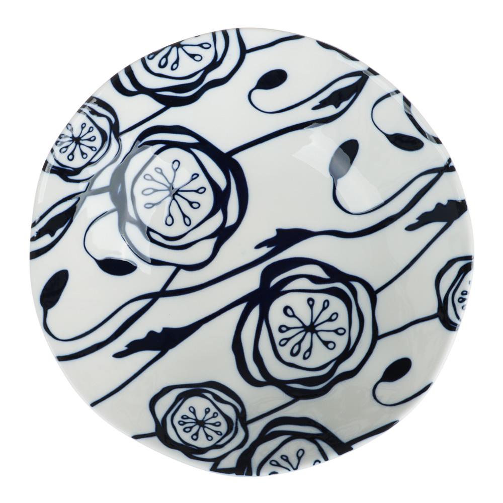 MILLIMI Индиго Салатник, 18х5см, керамика