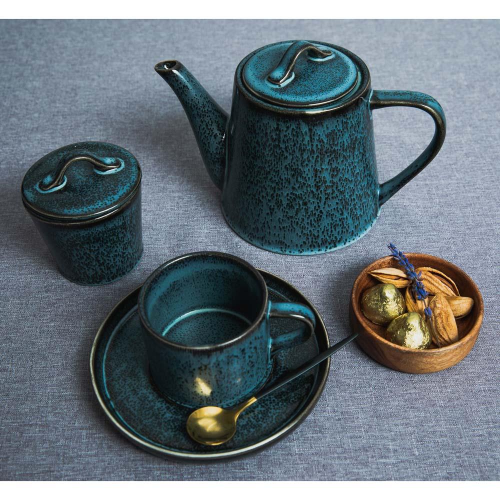 MILLIMI Блэк Джинс Чайник заварочный, 1000мл, 22х13,5х14,5см, керамика