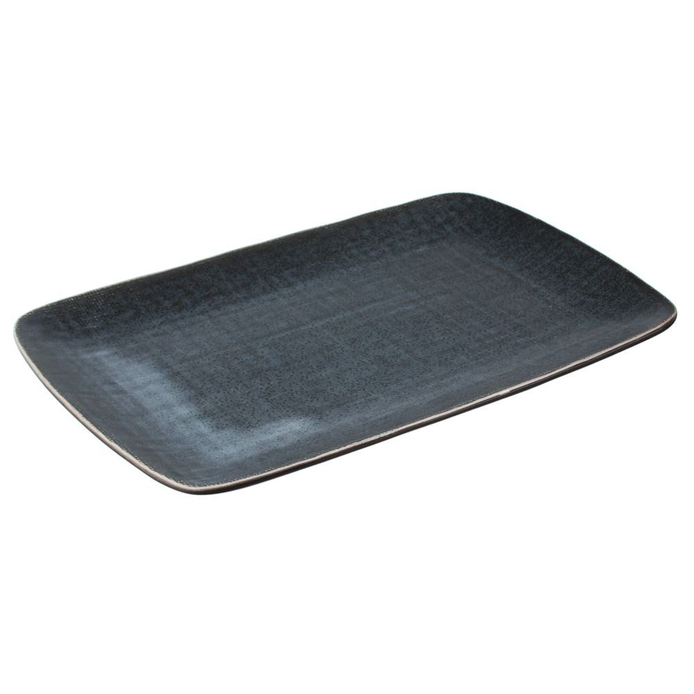 MILLIMI Блэк Джинс Блюдо прямоугольное, 27,5х18х2см, керамика
