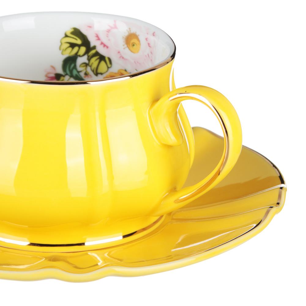 MILLIMI Тюльпан Набор чайный 12 пр., 220мл, 15см, костяной фарфор