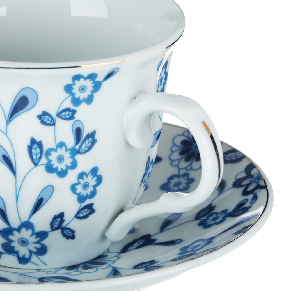 Амелия Набор чайный 12 пр., 220мл, 14см, фарфор
